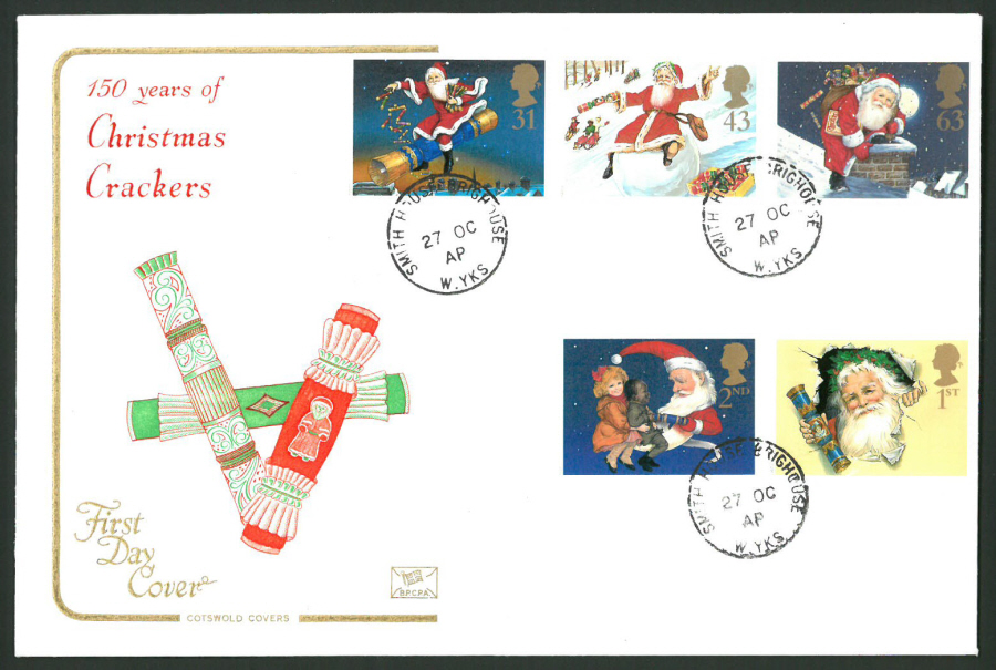 1997 Cotswold First Day Cover -Christmas -Smith House Brighthouse C D S Postmark -