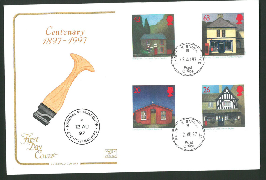 1997 Cotswold First Day Cover -Sub Post Office - Painswick C D S Postmark -
