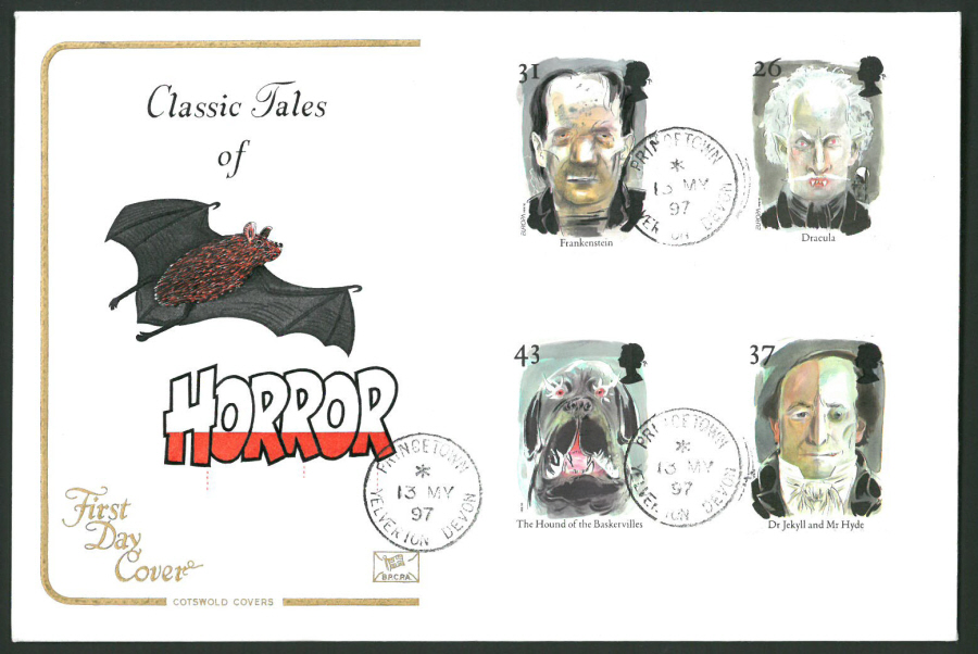 1997 Cotswold First Day Cover -Horror - Princetown Devon C D S Postmark -