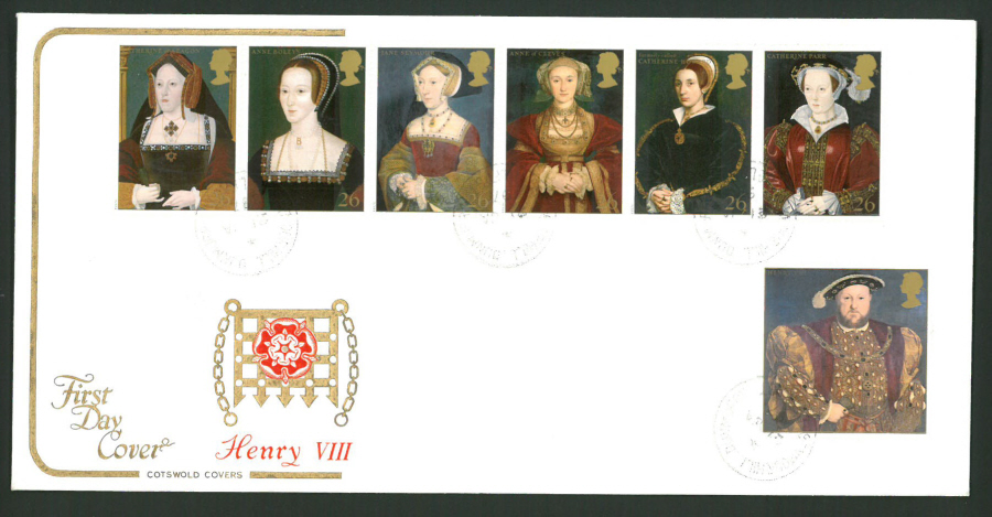 1997 Cotswold First Day Cover -Tudors Henry Vlll - Seymour Hill C D S Postmark -