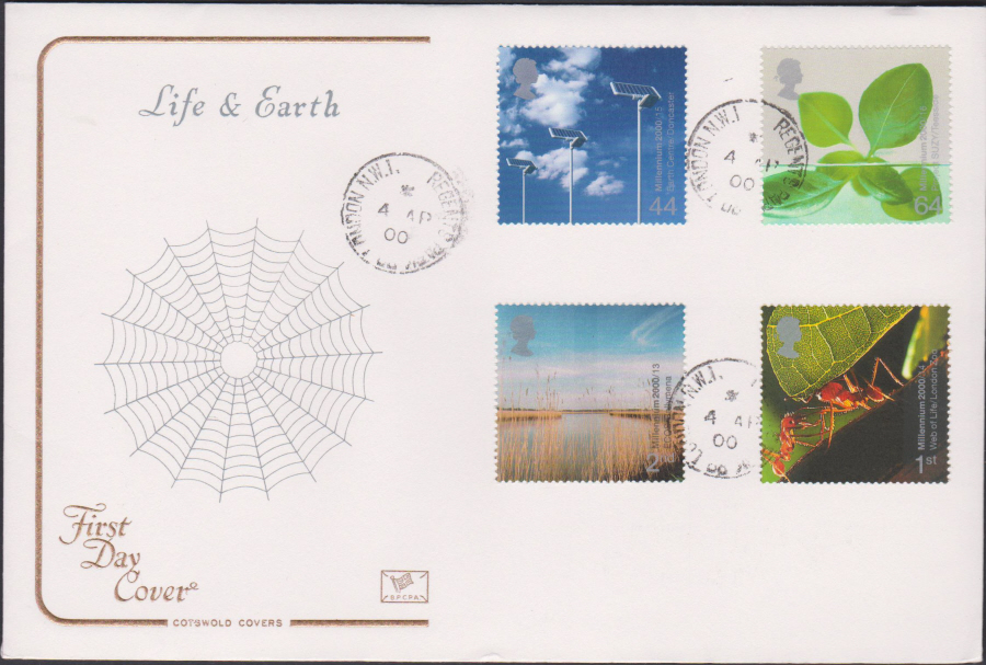 2000 Life & Earth COTSWOLD CDS First Day Cover - Regents Park Rd London Postmark