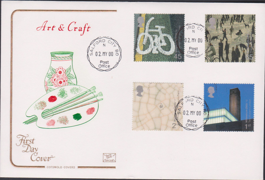 2000 People & Places COTSWOLD CDS First Day Cover - Salford City B O Postmark