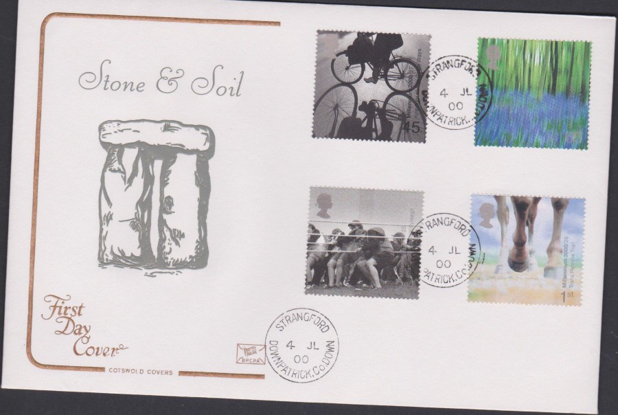 2000 Stone & Soil COTSWOLD CDS First Day Cover - Strangford, Downpatrick Postmark